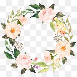 Flower Wreath PNG HD - 138059
