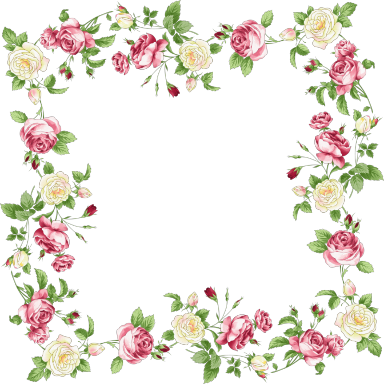 floral border png - Pesquisa Google - Flowers Borders PNG
