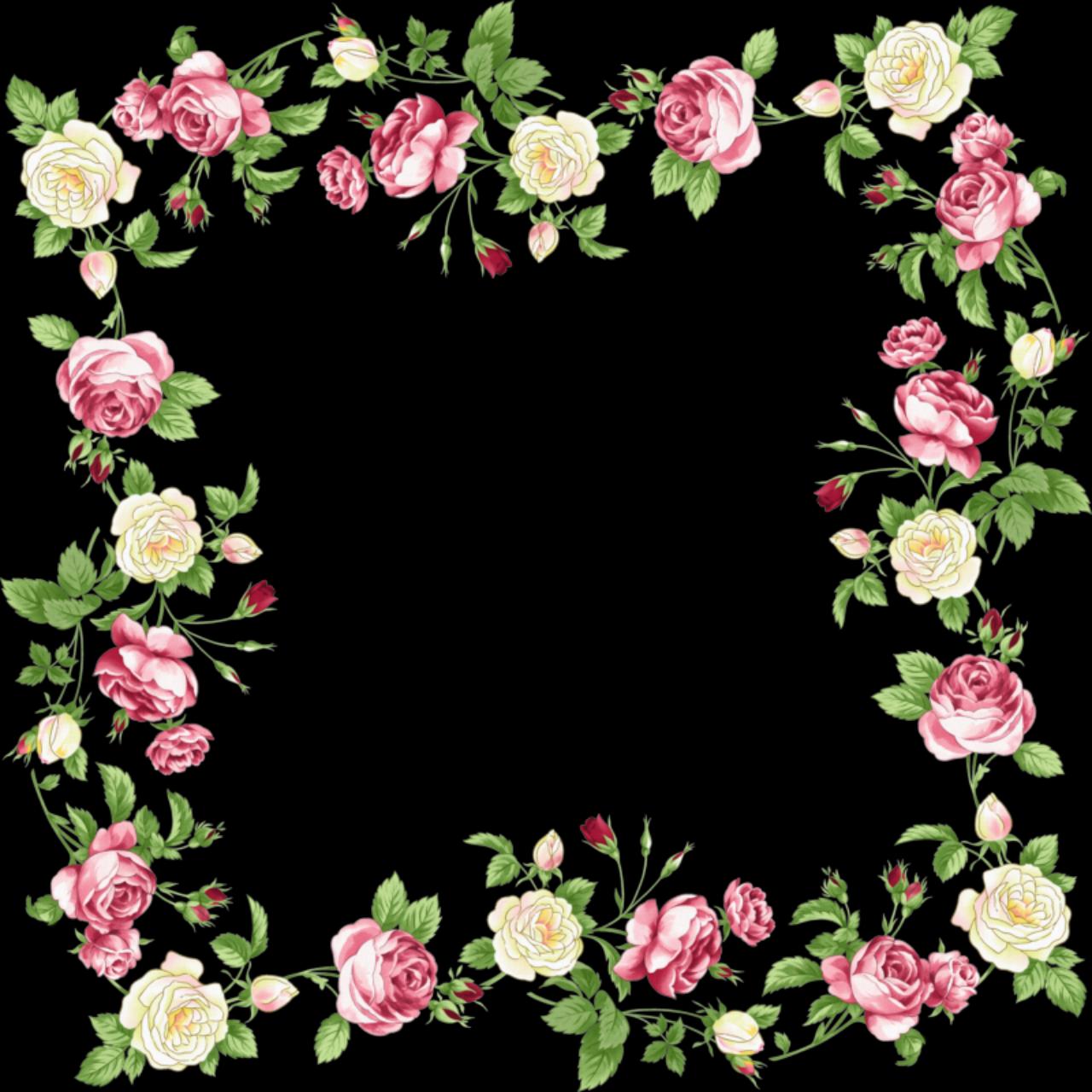 Flowers Borders PNG - 15476