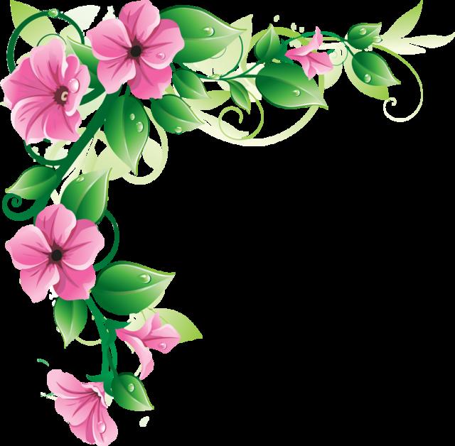 Flowers Borders PNG - 15479