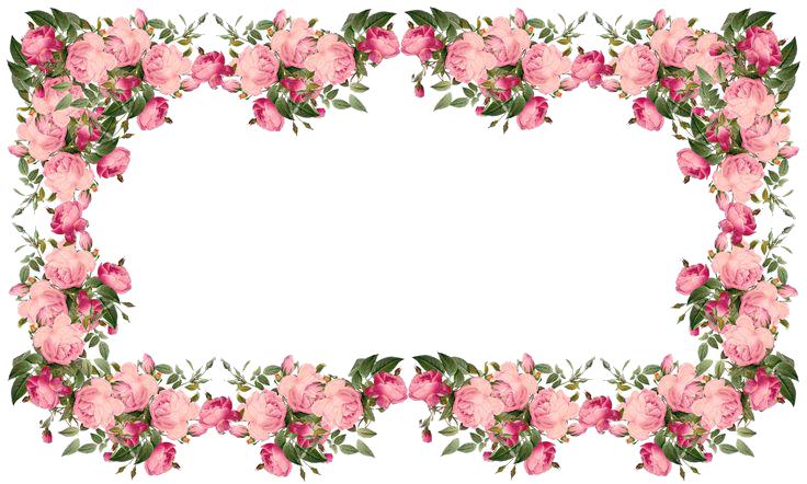 Flowers Borders PNG - 15480