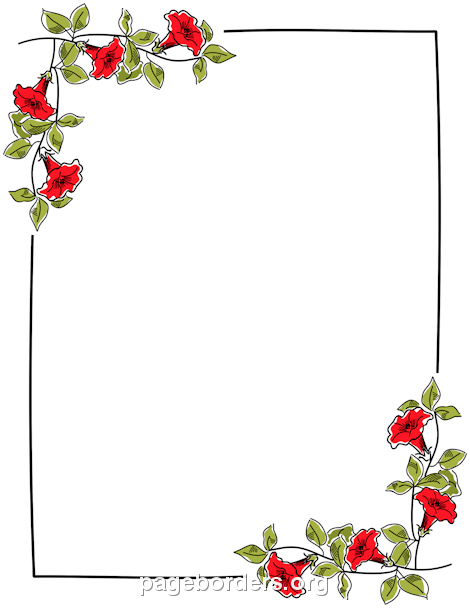 Flowers Borders PNG - 15488