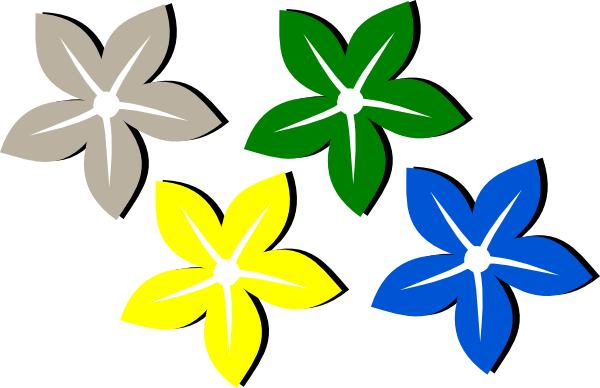 Colored flowers downloads flowers download vector clip art - Flowers Color PNG