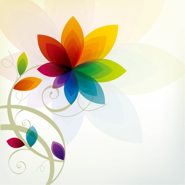 Colorful floral background - vector material - Flowers Color PNG