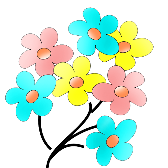 different flower drawings PlusPng.com  - Flowers Color PNG