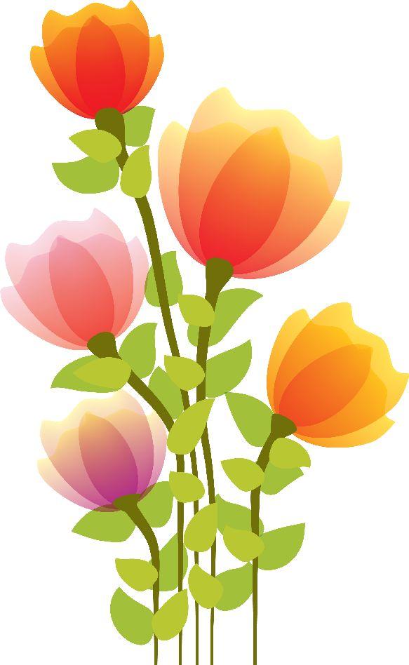 Flores Ilustraciones en PNG para Artesanía y Diseños Primavera - Flowers Color PNG