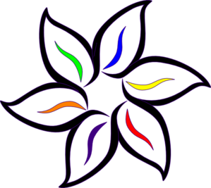 Multi-color Flower Clip Art - Flowers Color PNG