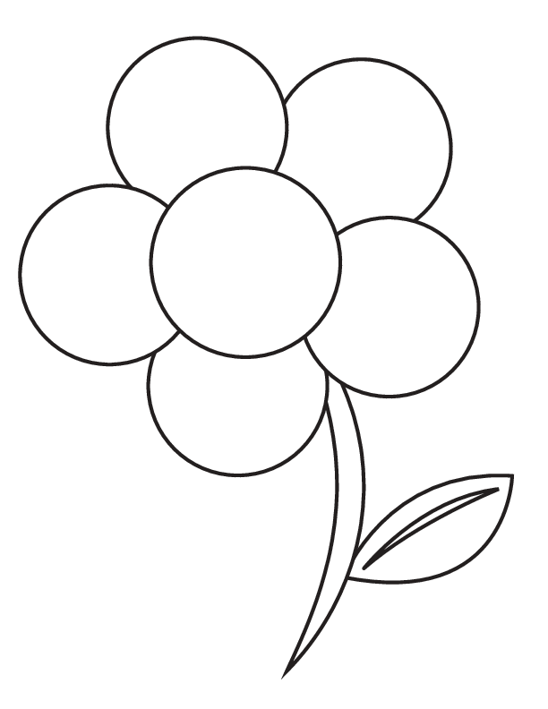 Trend Picture Of Flowers To Color For KIDS Book Ideas - Flowers Color PNG