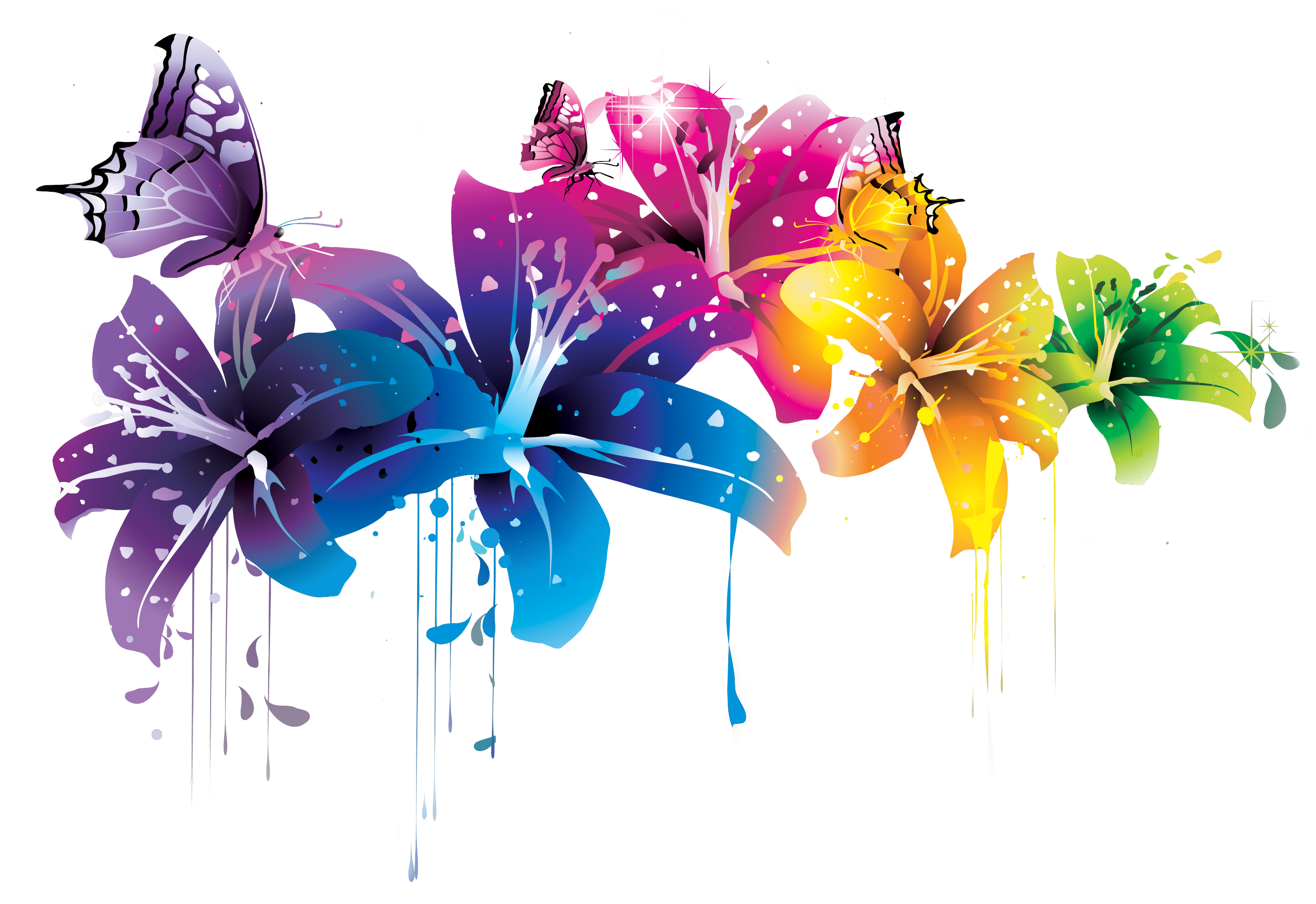 Download Flowers Vectors PNG