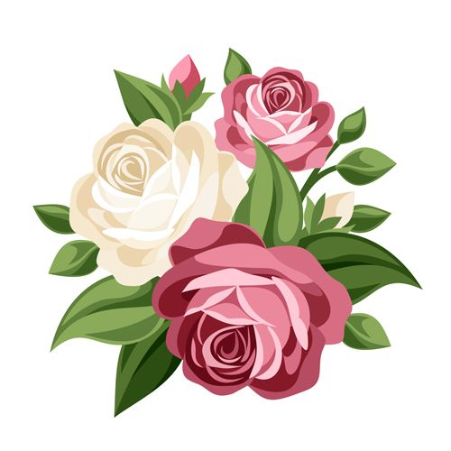 Elegant flowers bouquet vector 02 - Vector Flower free download - Flowers Vectors PNG