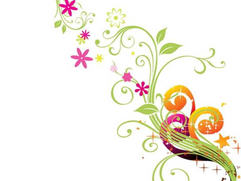 Floral Vector Wallpaper - Flowers Vectors PNG