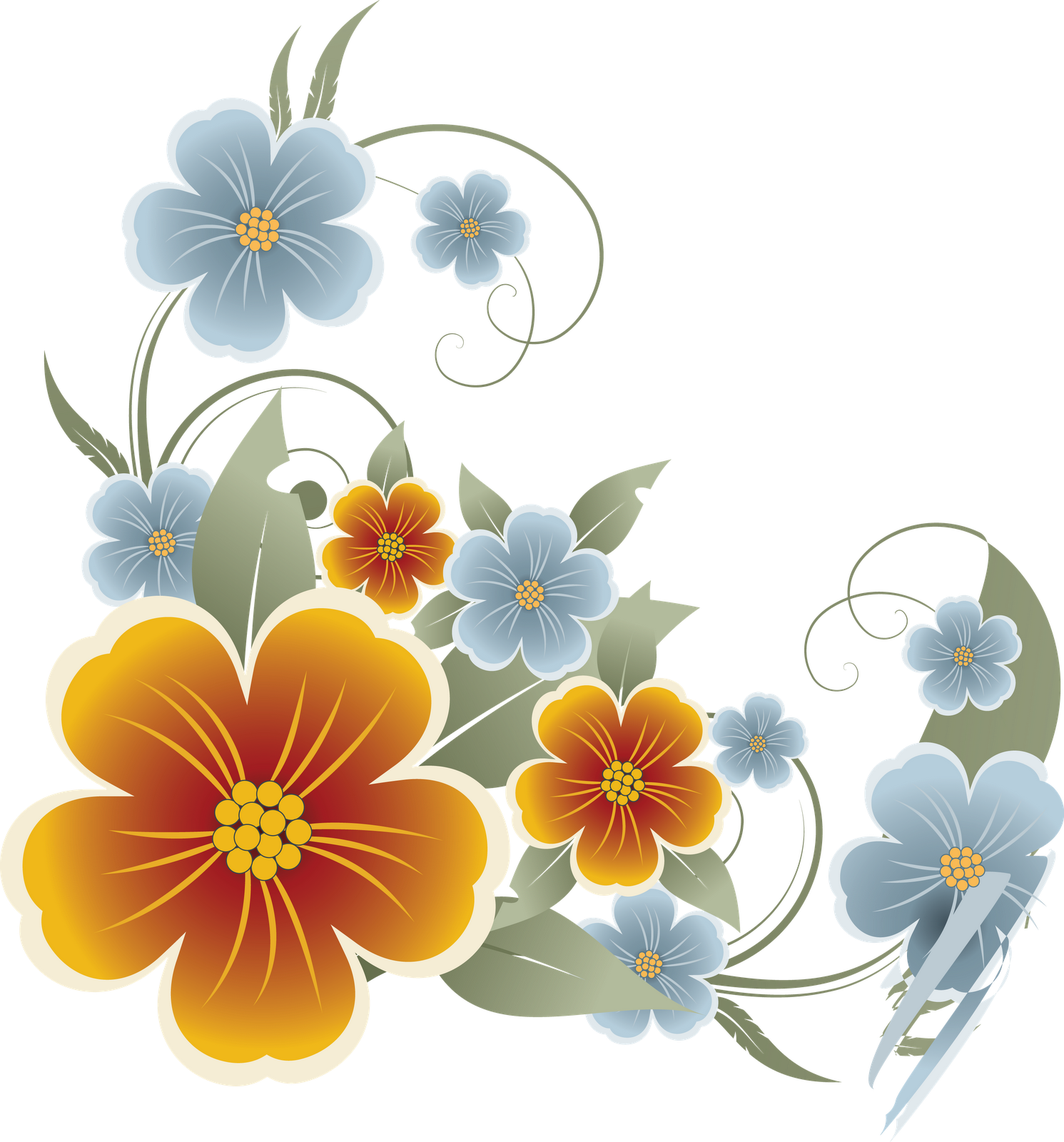 Flower . - Flowers Vectors PNG