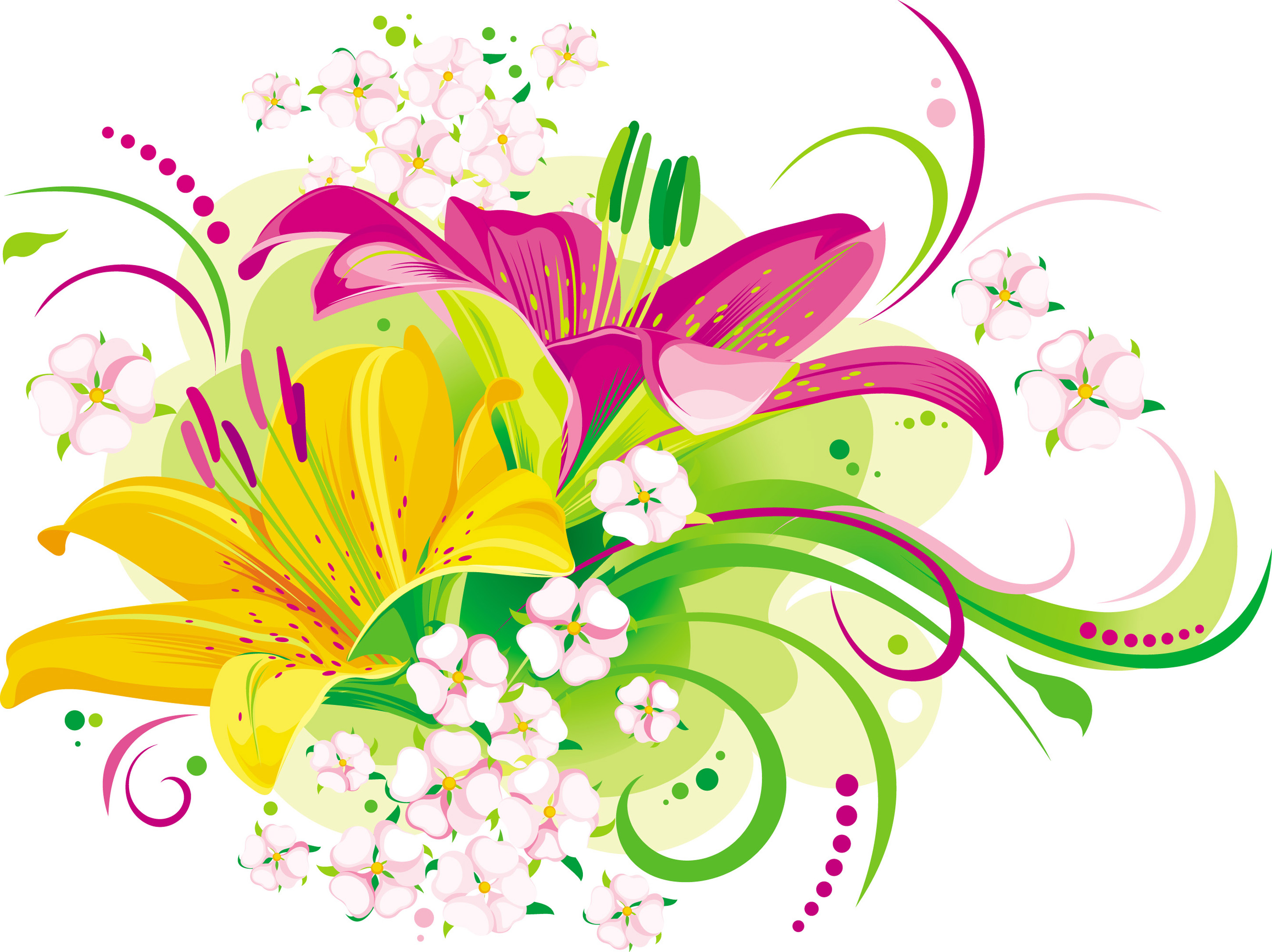 Flower-Vector-Desktop-HD- - Flowers Vectors PNG