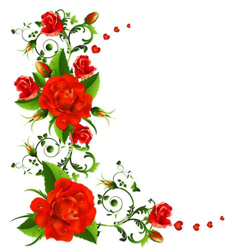 http://freedesignfile pluspng.com/75954-colored-flowers-with- - Flowers Vectors PNG