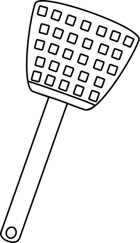 Black and White Fly Swatter Clip Art - Fly Swatter Clip Art