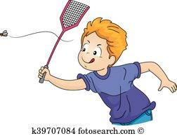 Kid Boy Fly Swatter - Fly Swatter Clip Art