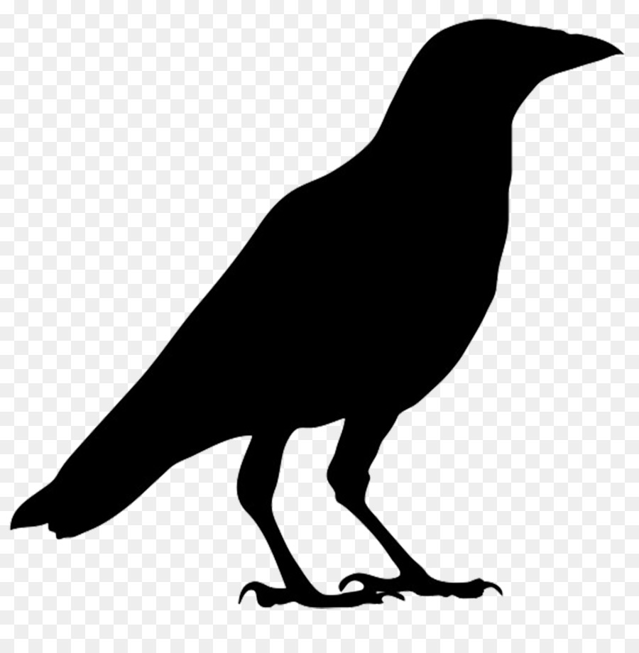 Flying Crow PNG Black And White - 153886