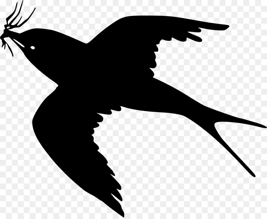 Flying Crow PNG Black And White - 153892