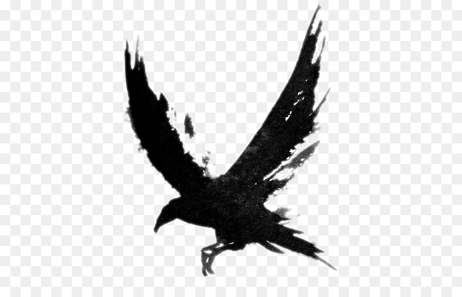 Flying Crow PNG Black And White - 153882