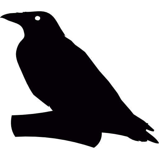 Flying Crow PNG Black And White - 153887