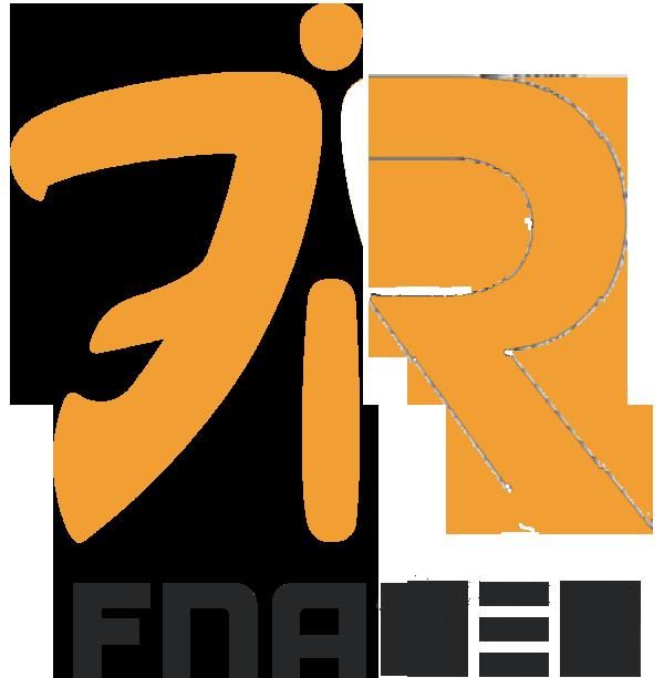 Orange Logo Black Font - Fnatic PNG