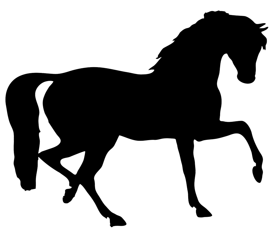 black horse clipart - Foal PNG Black And White