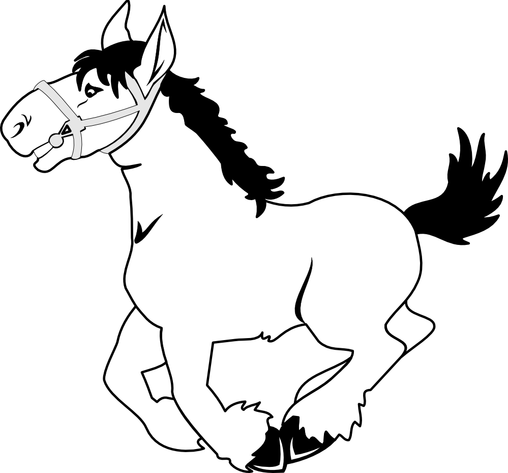 pin Black u0026 White clipart horse #10 - Foal PNG Black And White
