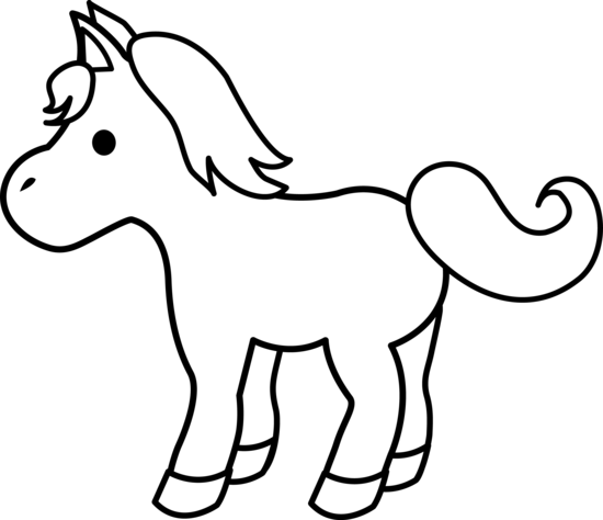 pin Foal clipart black and white #1 - Foal PNG Black And White