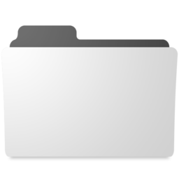 256x256px size png icon of minimal folder - Folder PNG