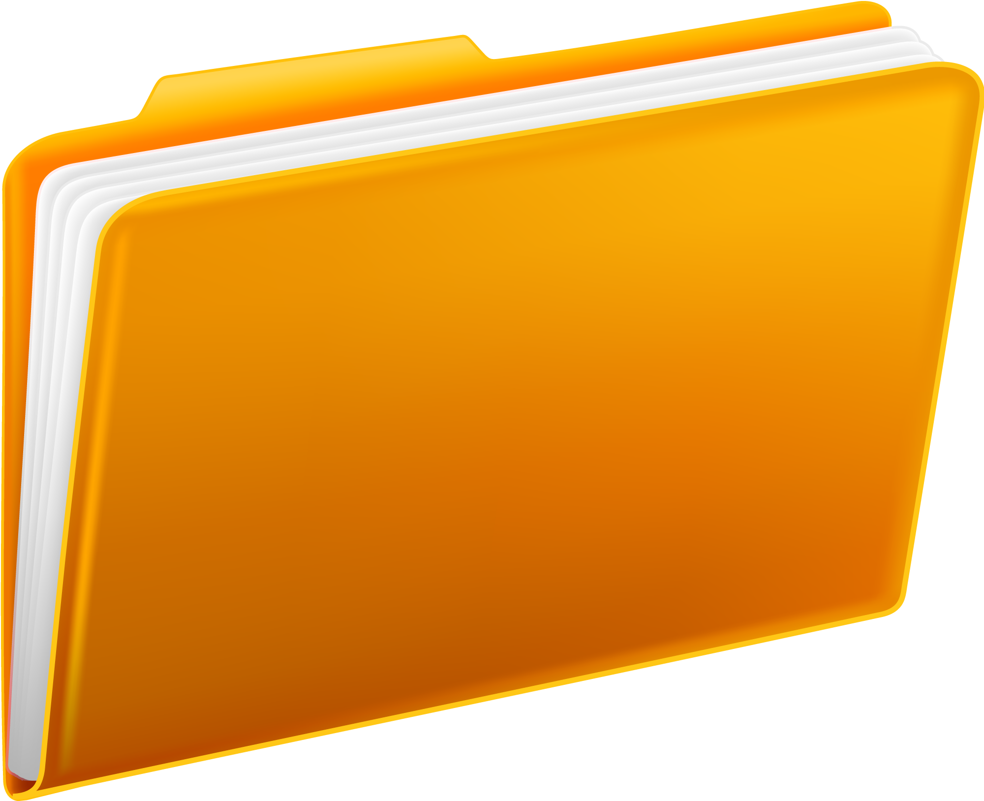Yellow Folders PNG - Folder PNG
