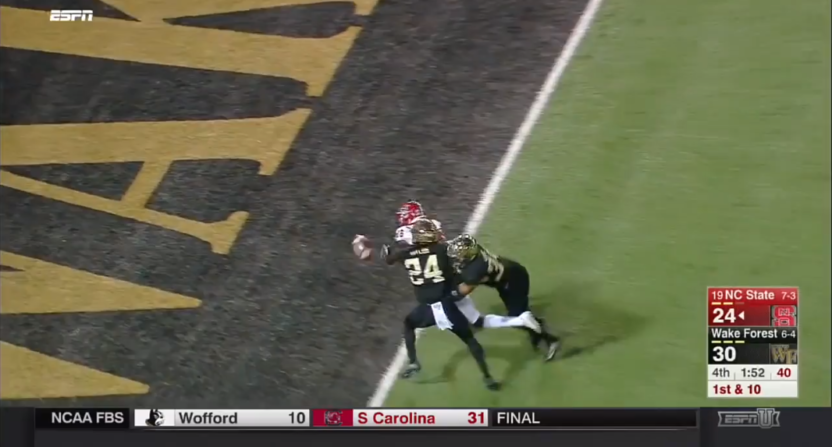 19 NC State loses to Wake Forest after brutal fumble at the goal line - Football Fumble PNG