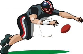 Picture of a Football Player Diving For the Ball In a Vector Clip Art  Illustration - Royalty Free Clipart Illustration - Football Fumble PNG