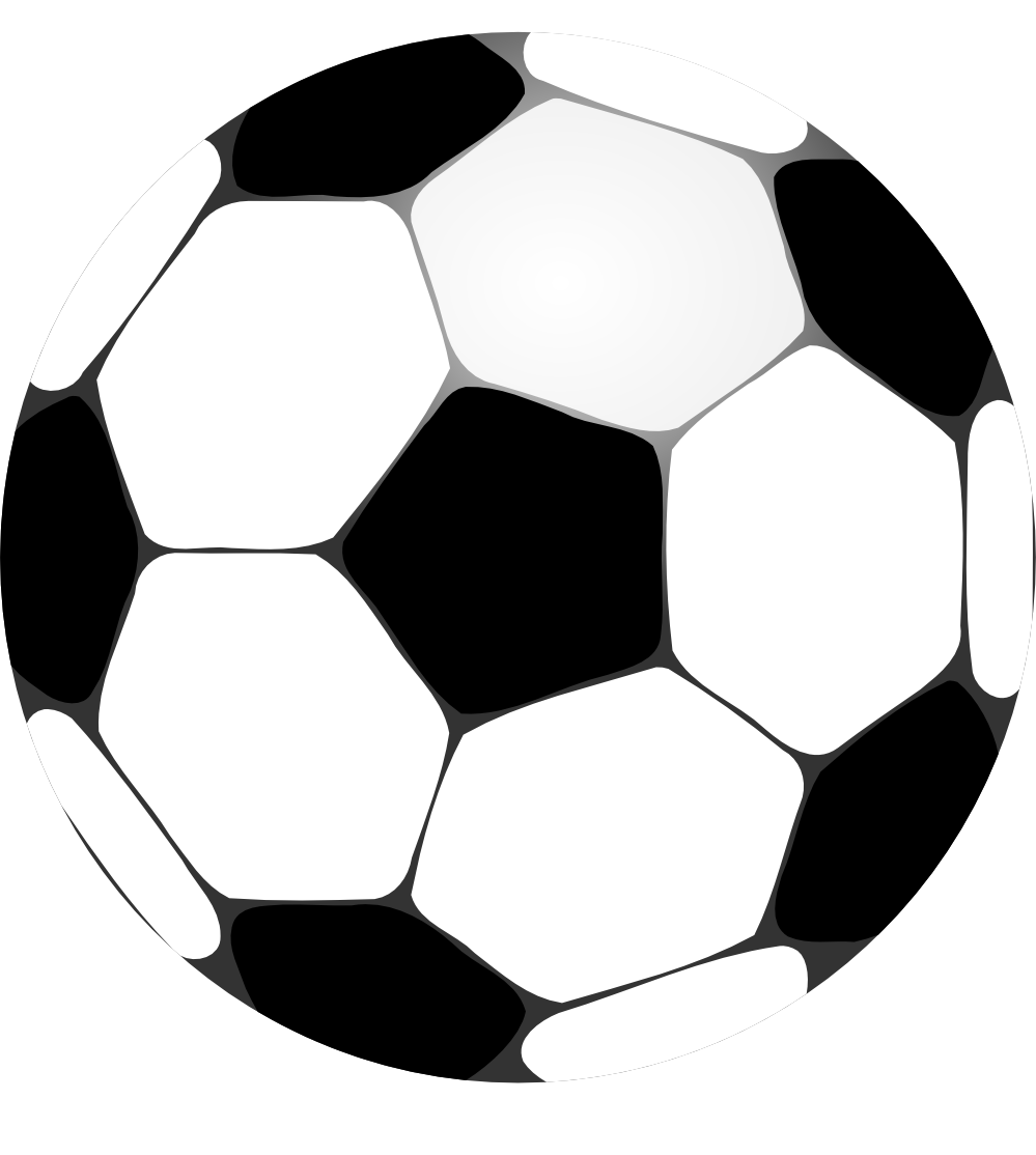 football clipart black and white - Football HD PNG