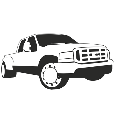 Ford Pickup Truck PNG Black And White - 155871