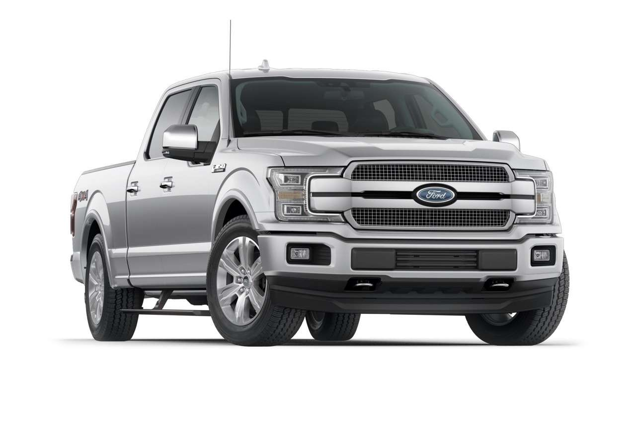 2018 F-150 Platinum - Ford Pickup Truck PNG Black And White