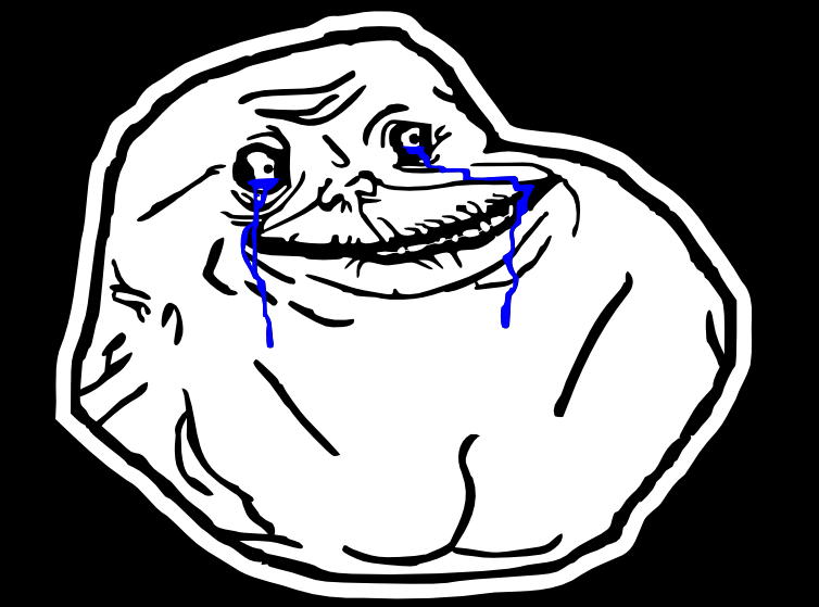Forever Alone PNG - 11809