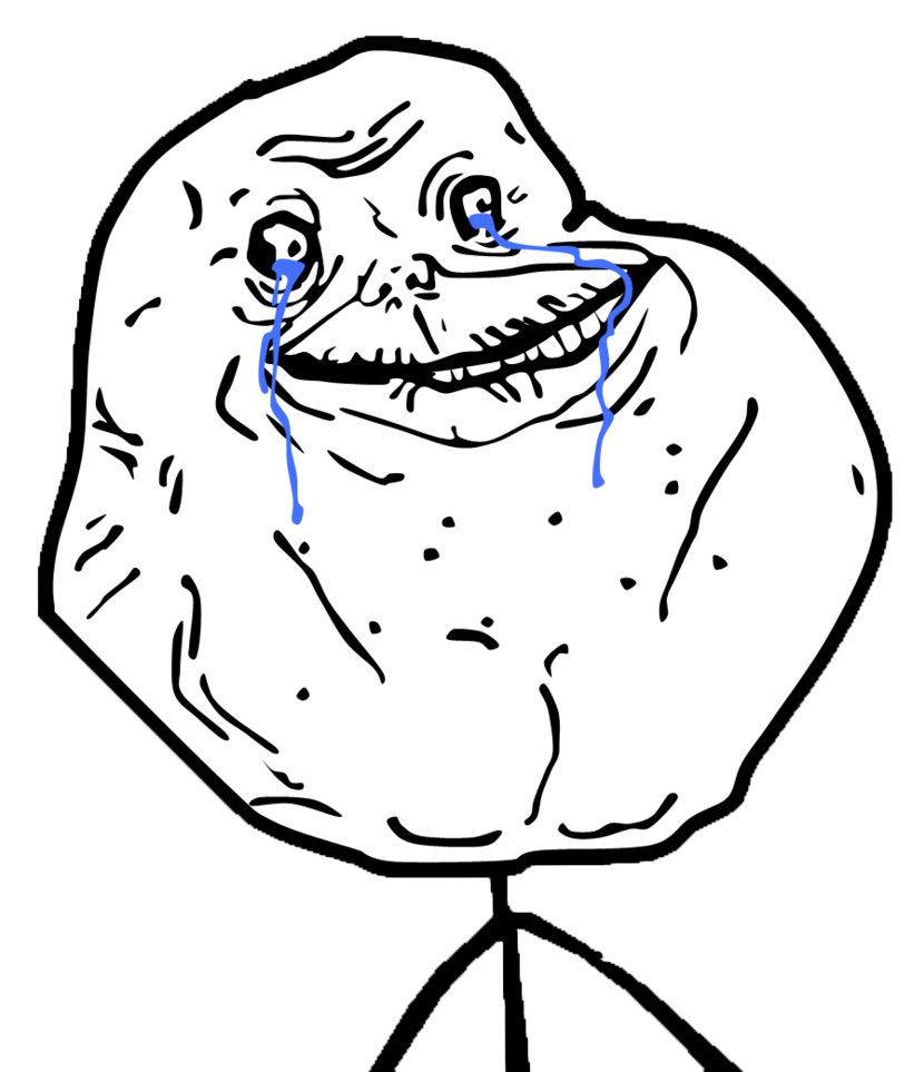 Forever Alone PNG