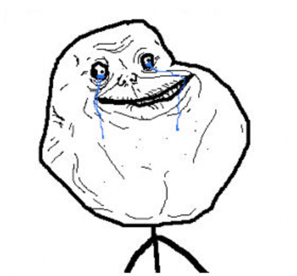 Download this image as: - Forever Alone PNG