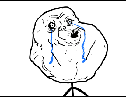 File:Forever ALONE.png - Forever Alone PNG