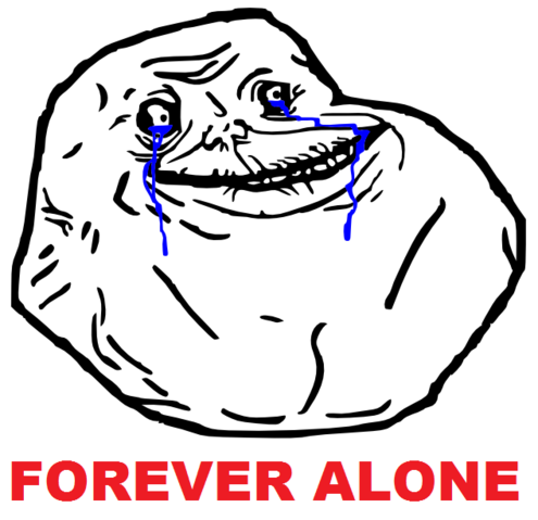 Forever Alone PNG - 11816