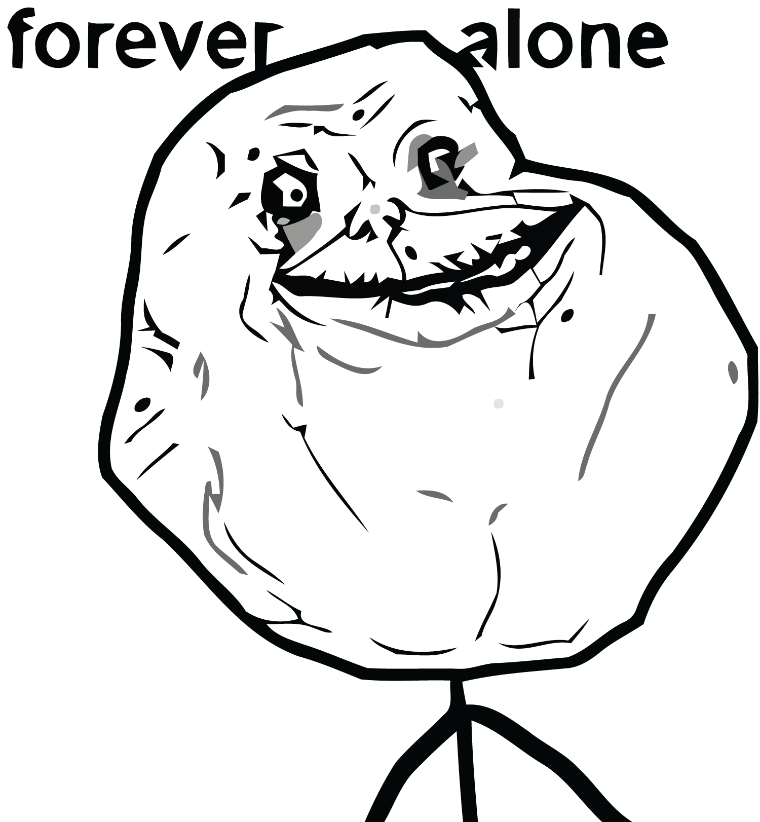 Sad-forever-alone-l.png - Forever Alone PNG
