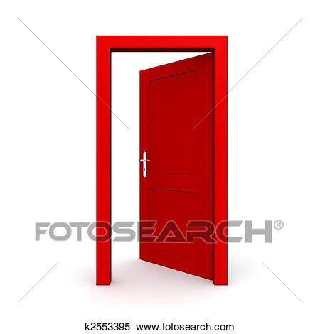 Stock Illustration - Open Single Red Door. Fotosearch - Search Clipart,  Drawings, Decorative - Fotosearch Free PNG HD