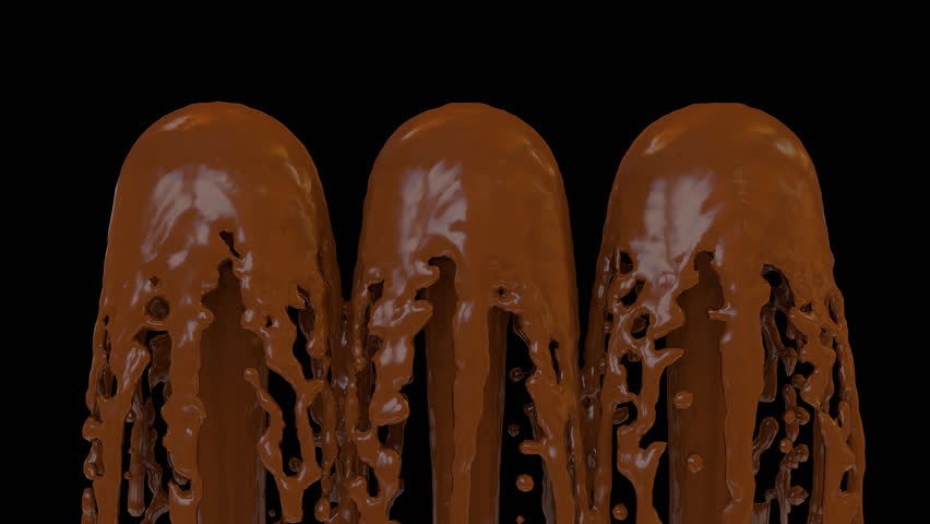 Animated fountains of melted chocolate 2. Transparent background - Alpha  channel embedded with HD PNG - Fountain PNG HD