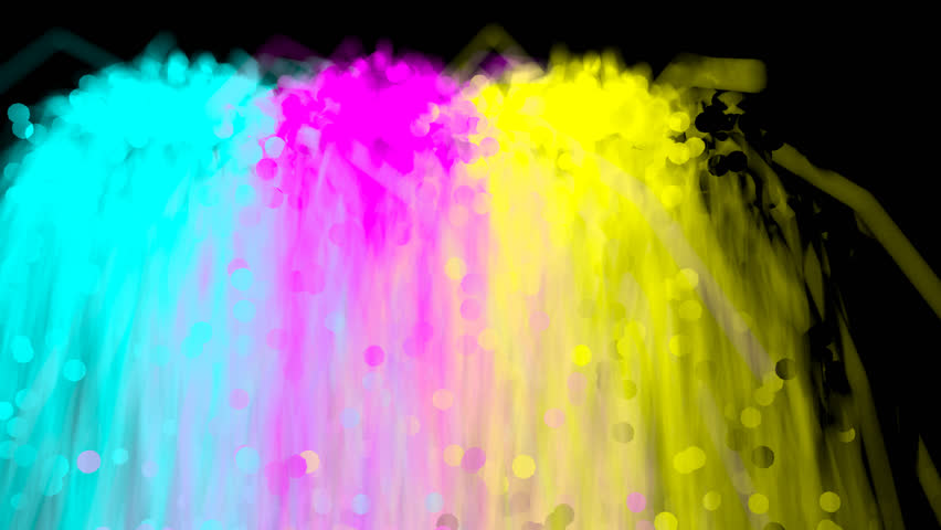 Fountain Of Cyan, Magenta, Yellow And Black Colors Mixing. (Alpha Channel  Included With HD PNG File). Black Color Isnu0027t Visible On Black Background  Stock PlusPng.com