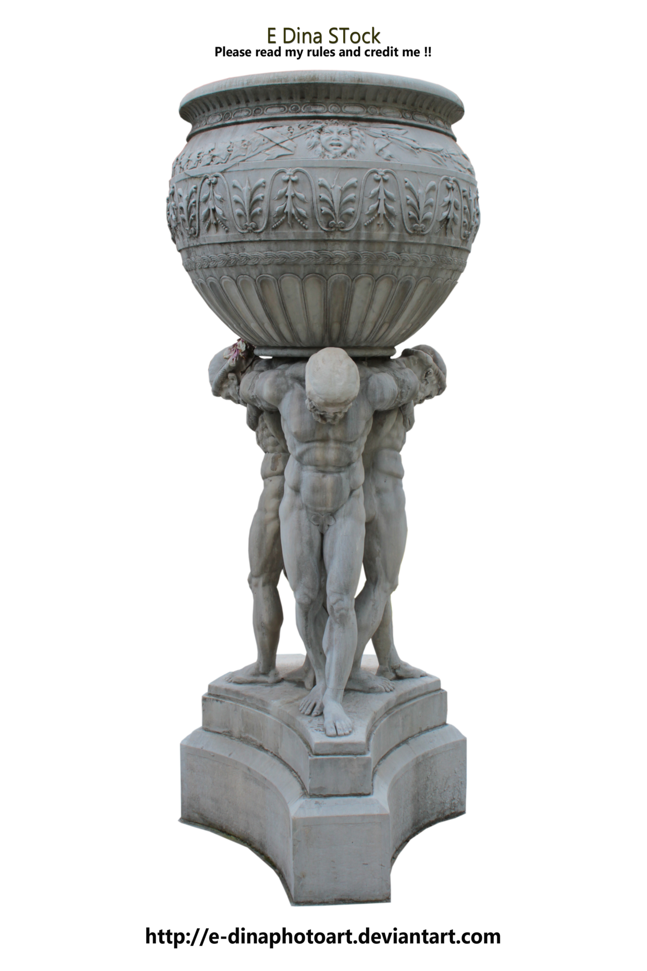 . PlusPng.com HQ PNG Stock Statue/Fountain by E-DinaPhotoArt - Fountain PNG HD