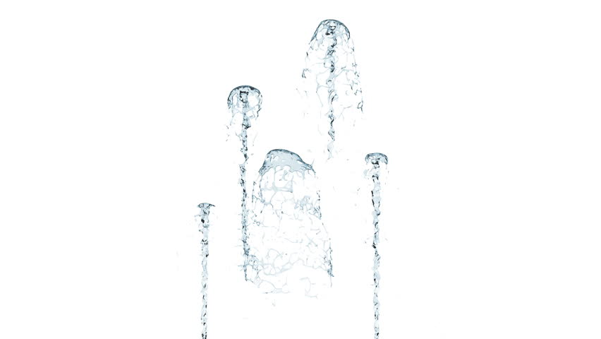 Small Blue Fountains On White Background With Alpha Matte Stock Footage  Video 9556721 | Shutterstock - Fountain PNG HD