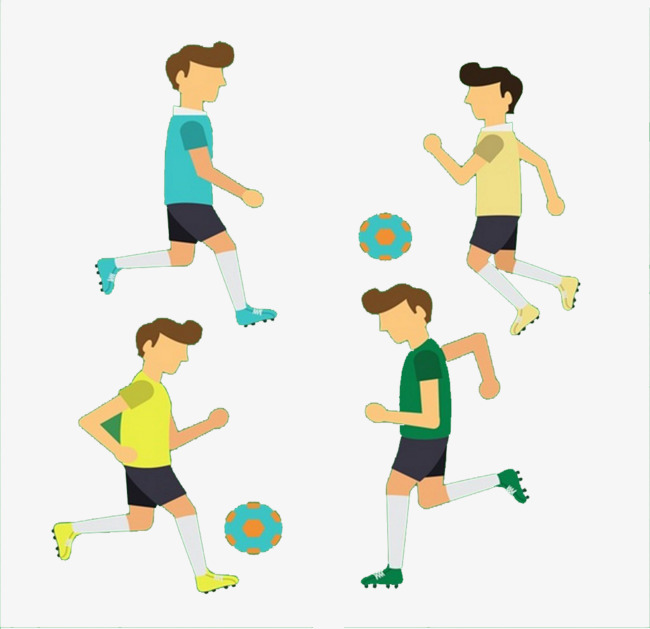 Four Boys Playing Soccer, Football, Movement, Players PNG And PSD - Four Boys PNG