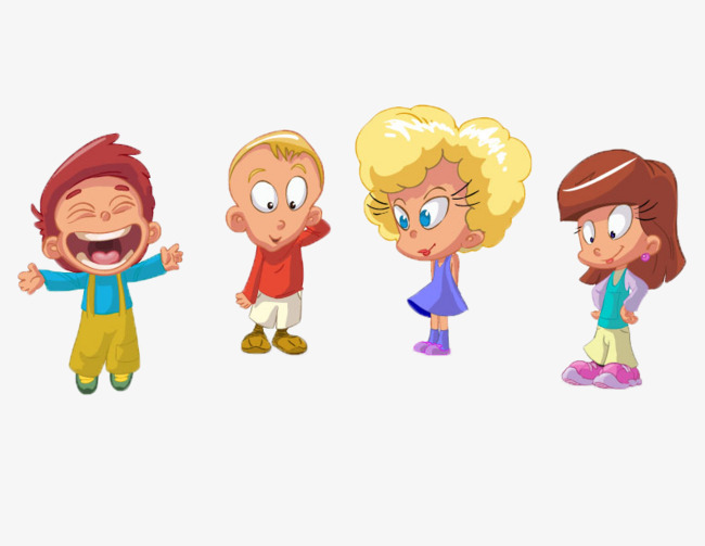 Four Different Hairstyle Cartoon Boys And Girls, Hairstyle, Cartoon, Boy PNG  Image And - Four Boys PNG