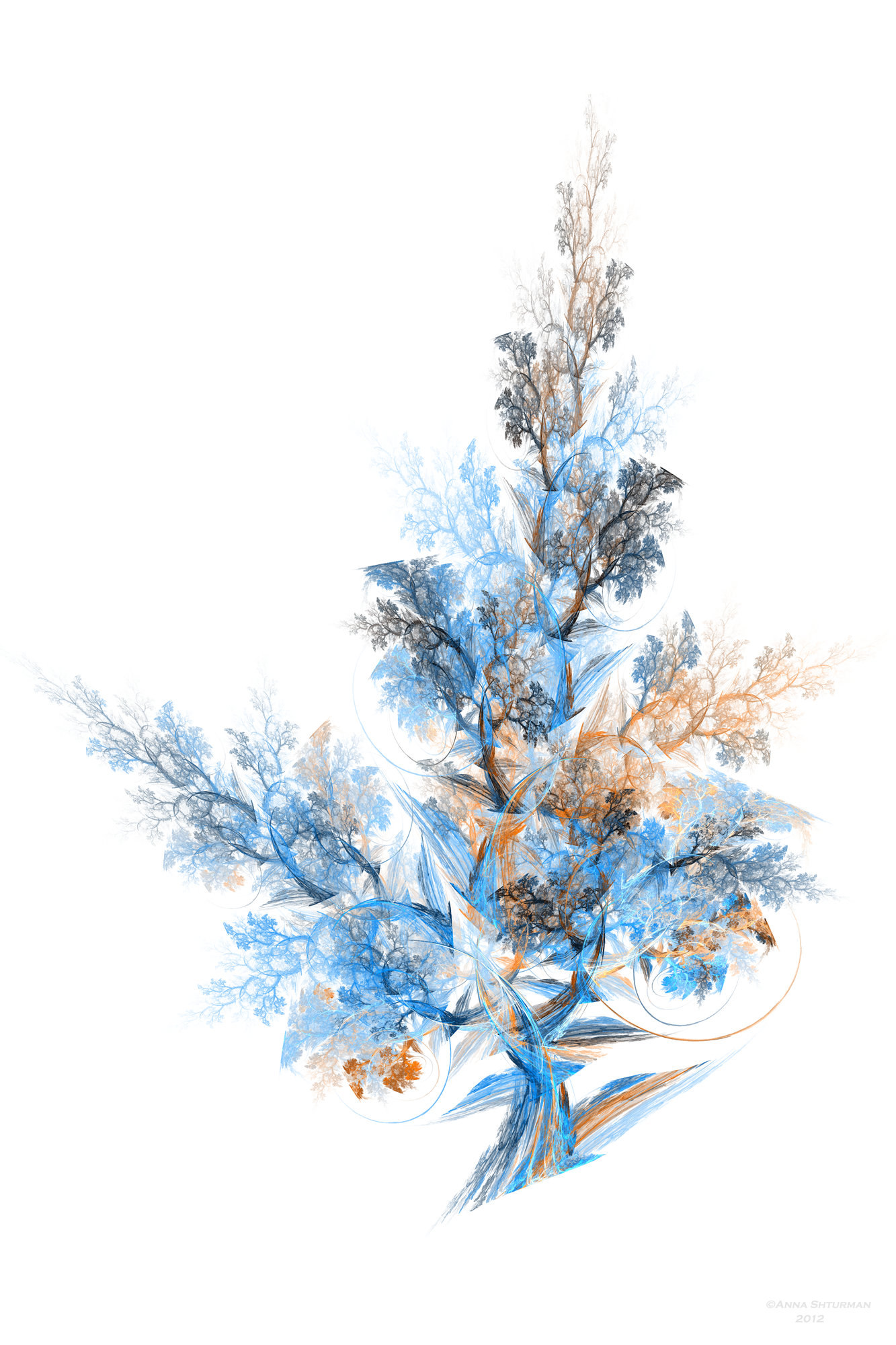 . PlusPng.com some modified fractal tree 25 by Alvenka - Fractal PNG