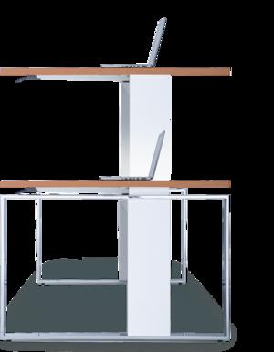 Höhenverstellbare Schreibtische und Design Büromöbel von LEUWICO - Frau Am Schreibtisch PNG